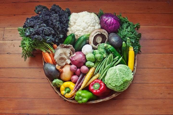 Ración de verduras y frutas