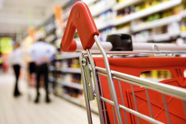 Un carrito de la compra del supermercado