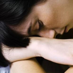 Una mujer, afectada por depresión