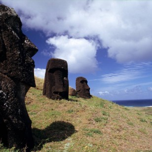 Paisaje de la Isla de Pascua