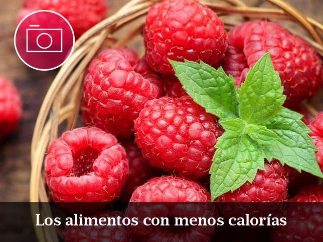 Los alimentos con pocas calorías