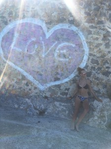 Almudena Lapique, en Ibiza