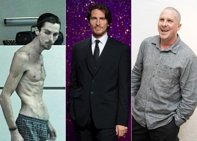 Los cambios de peso de Christian Bale