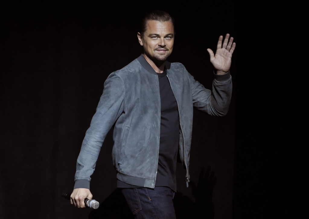 """Actor Leonardo DiCaprio attending promotion film """"Once Upon a Time in Hollywood"""" during CinemaCon 2018 on Monday, April 23, 2018, in Las Vegas."""