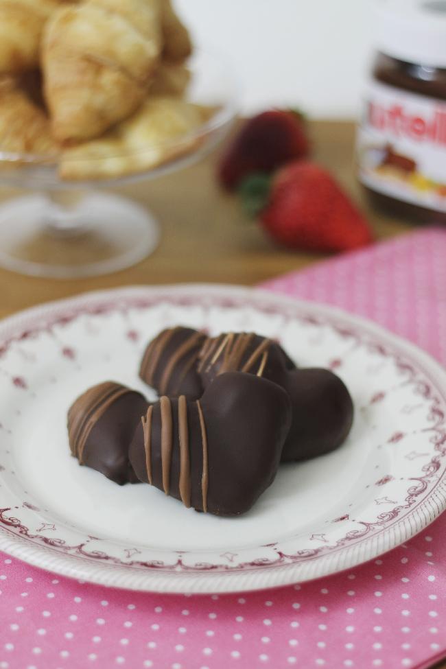 Bombones de fresa para San Valentín