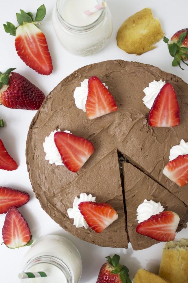 La receta del mousse de chocolate con fresas