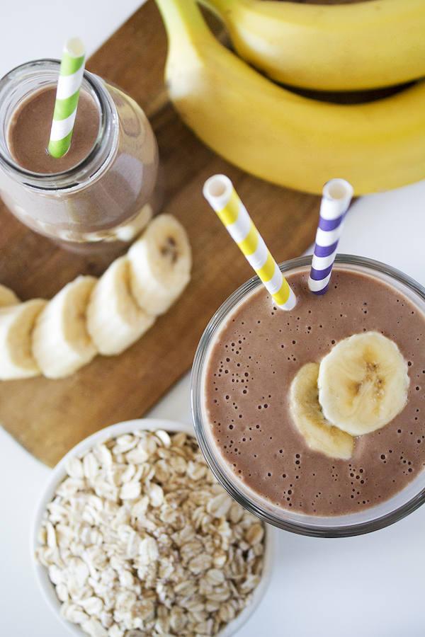 cuantas calorias tiene un jugo de banano en leche
