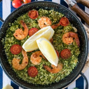 Recetas originales para comer: Paella de brócoli