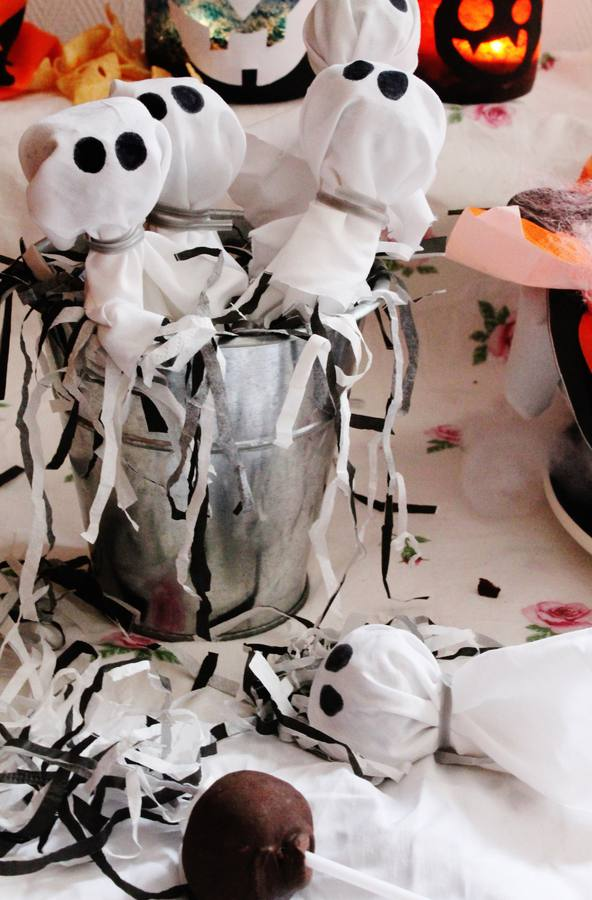 Recetas de Halloween: cakepops de fantasmas