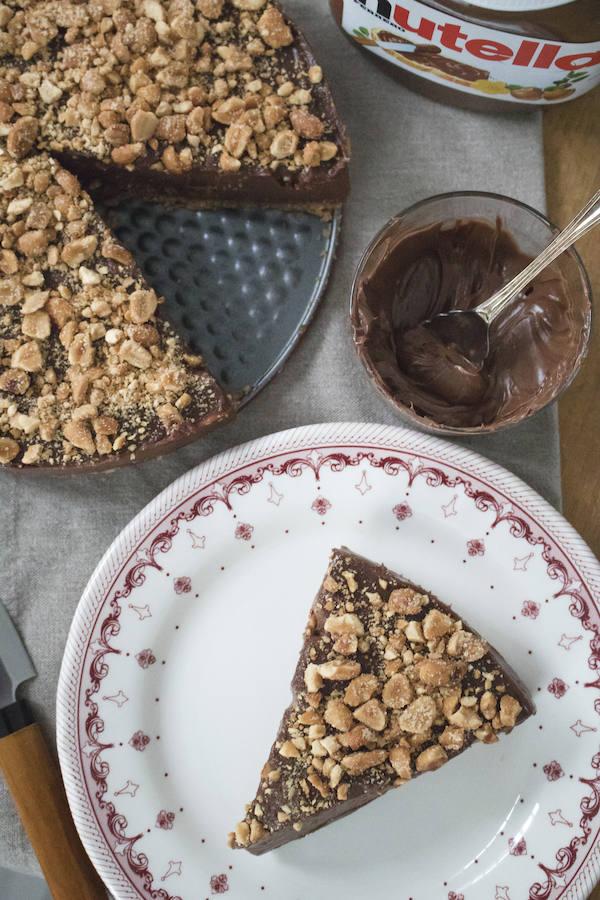 Receta de la tarta de Nutella