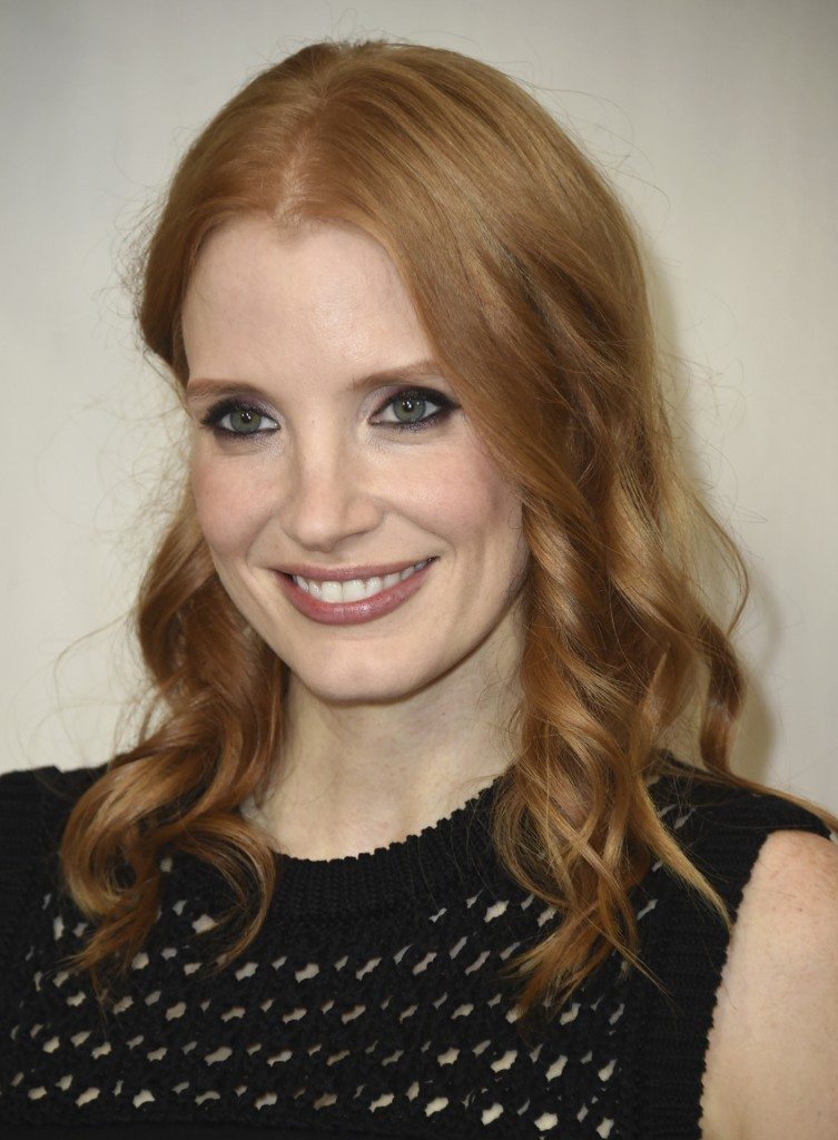 Jessica Chastain arrivesHt the Hth annual Hammer Museum Gala in the Garden on Saturday, Oct. 14, 2017, in Los Angeles. (Photo by Jordan Strauss/Invision/AP)