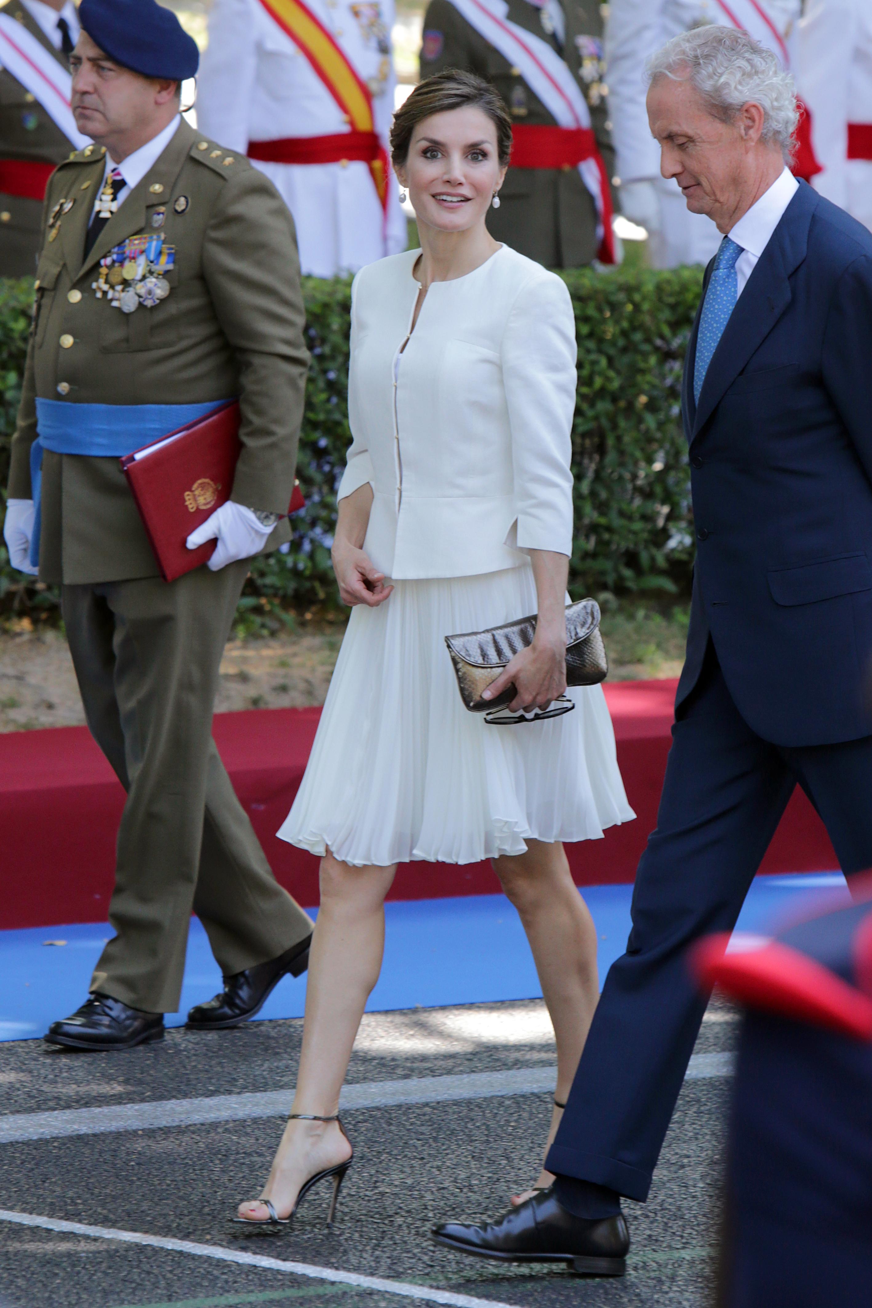 Doña Letizia, el día de las Fuerzas Armadas de 2015.