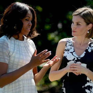 La Reina Letizia y Michelle Obama en la Casa Blanca