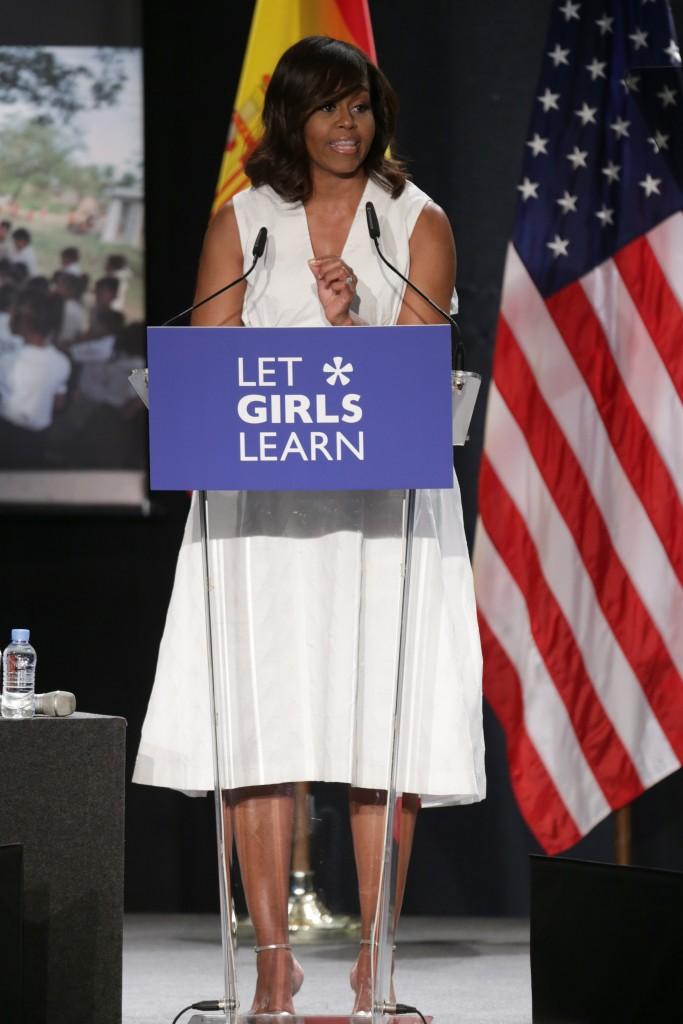 Michelle Obama, en Madrid en la conferencia 'Let girls learn' en Madrid