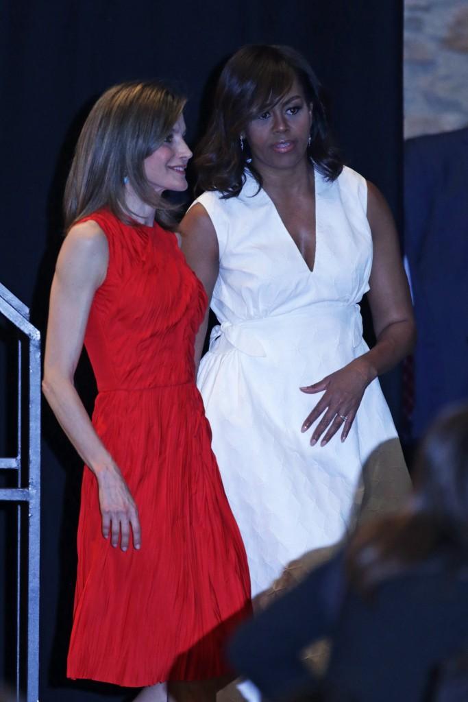 Duelo de estilo en Madrid: Letizia vs. Michelle Obama