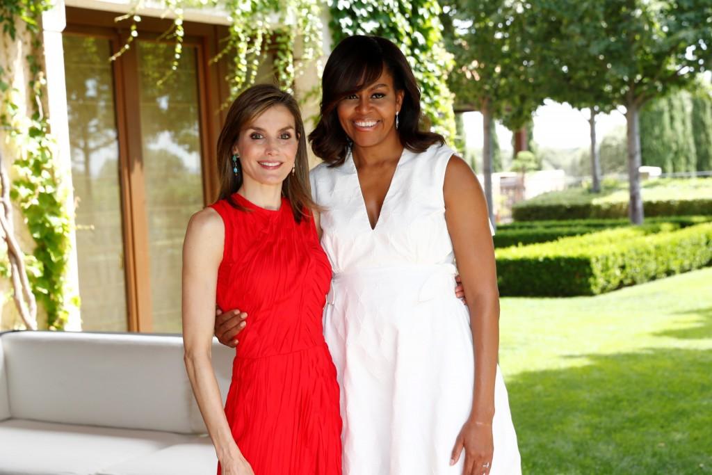 La Reina y Michelle Obama, complicidad en Zarzuela