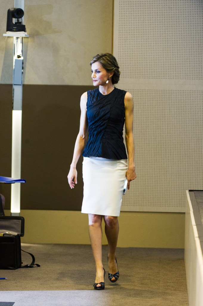 La Reina, tras su discurso como embajadora de la FAO