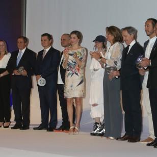 Letizia, con vestido de Zara 2011 en los Premios Nacionales de Moda