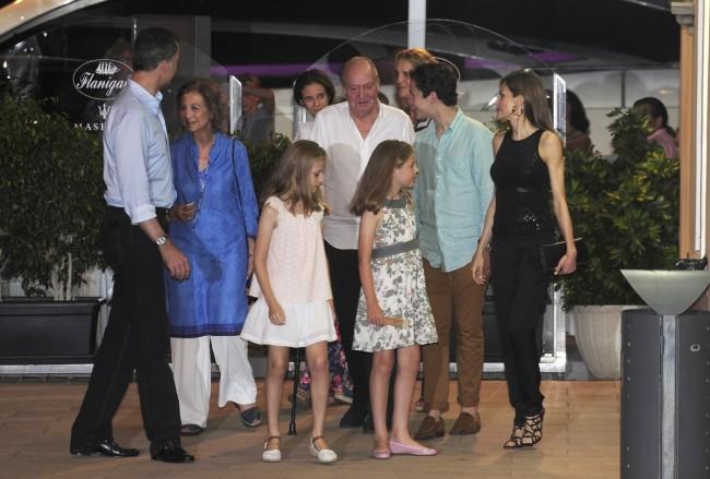 Los Reyes se van de cena familiar en Mallorca