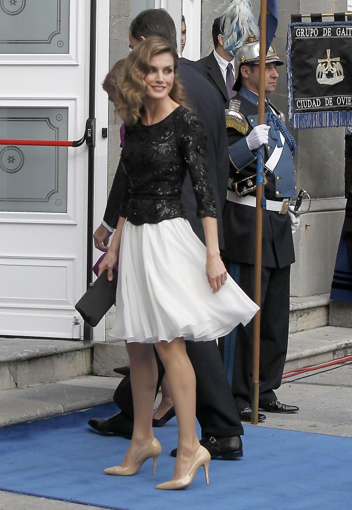Doña Letizia, en los Premios Príncipe de Asturias 2012