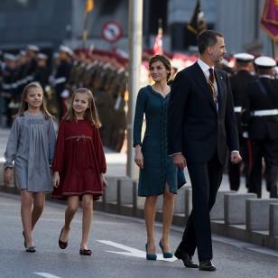 La reina Letizia, la princesa Leonor y la infanta Sofía
