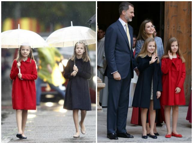 La princesa Leonor y la infanta Sofía repitieron looks