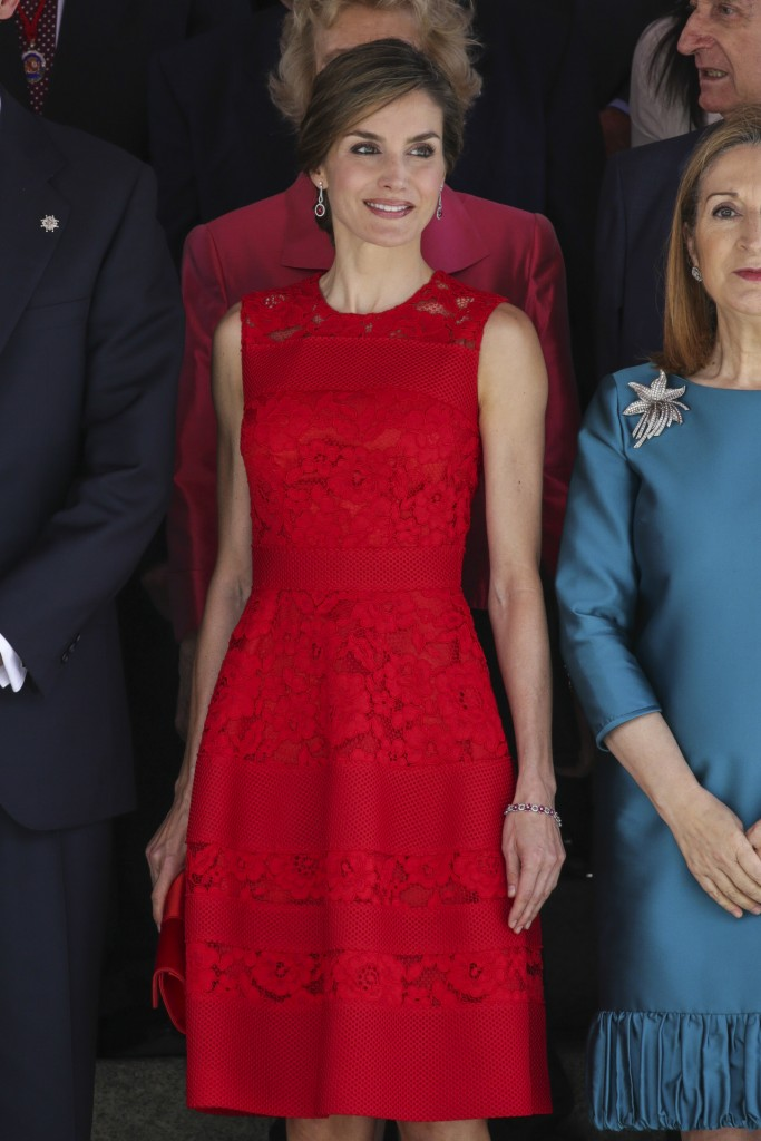 "Spanish Queen Letizia Ortiz during 40 th anniversary of ""15 june 1977 Spanish Elections"" in Madrid on Wednesday June 28, 2017"