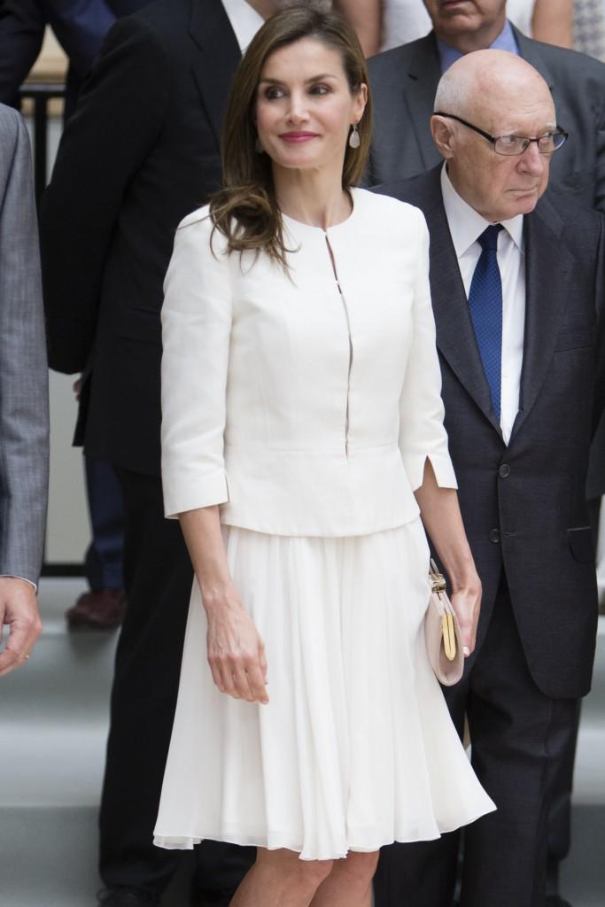 Doña Letizia, en su tercer aniversario como Reina de España.