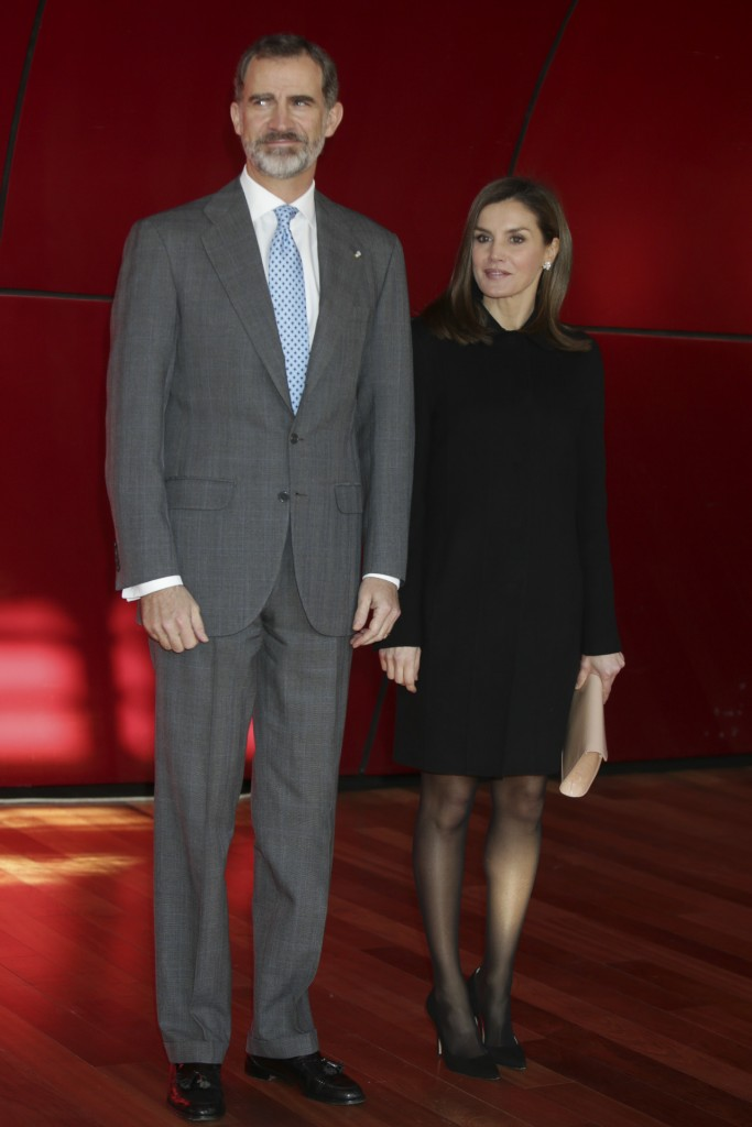 King Felipe VI and Queen Letizia during the foundation awards victims of terrorism 2017 in Madrid Monday January 15 2018