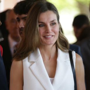 "Spanish Queen Letizia Ortiz during the 5 th edition of ""Congreso Educativo sobre Enfermedades Raras"" in Villanueva de la Serena (Badajoz) , Spain , Thursday, April 26, 2018."