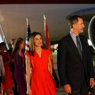 El primer vestido de Letizia en su viaje a EE.UU.