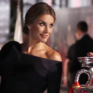 Spanish Queen Letizia and Juan Luis Cebrian during the AS Sports Awards in its 50th Anniversary in Madrid on Monday 04 December 2017.