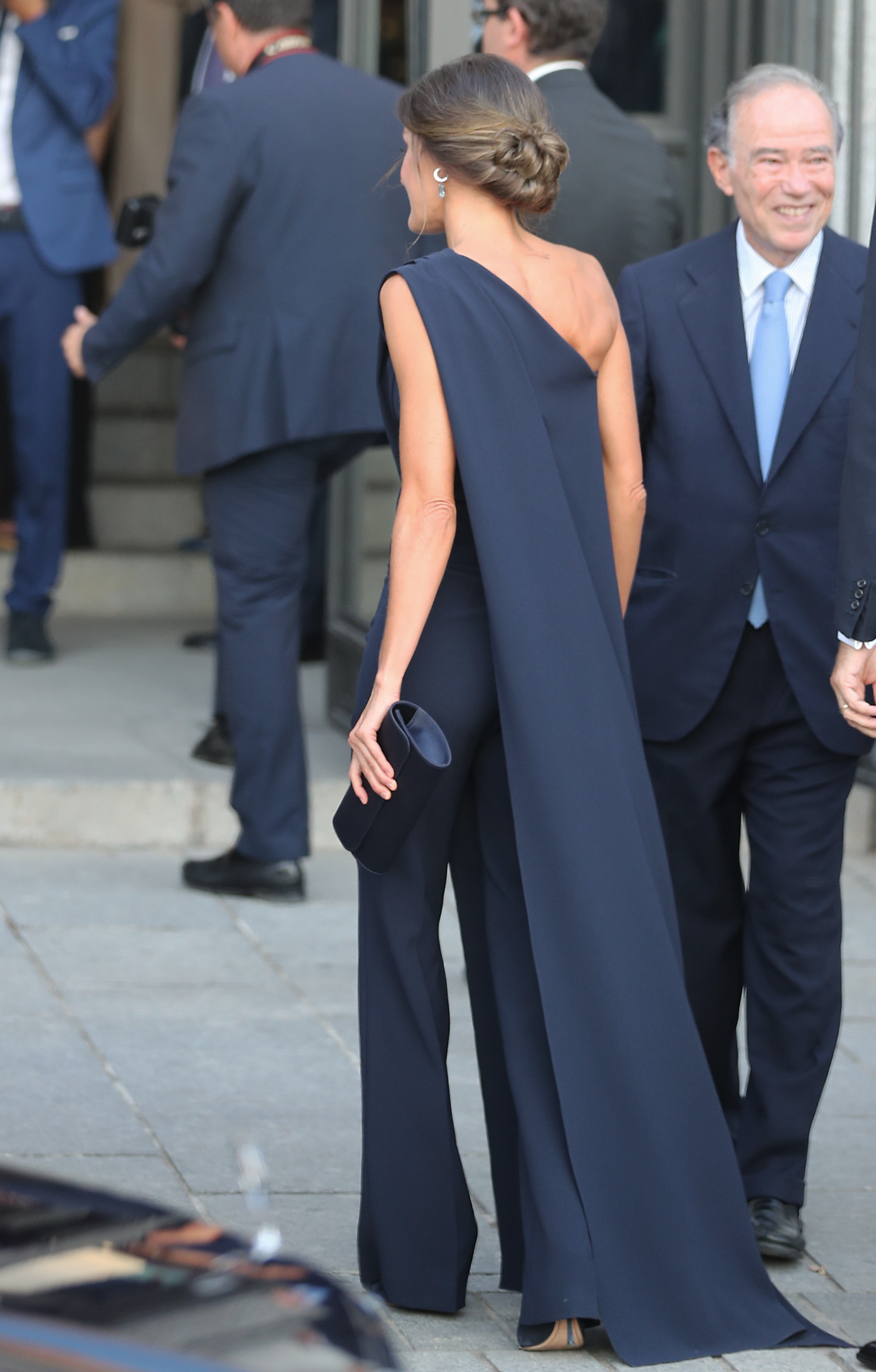 Spanish Queen Letizia attending the opening of the season of the Royal Theatre 2018 / 2019 in Madrid on Wednesday , 19 September 2018