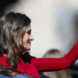 Como siempre, Leticia se ha mostrado muy amable con la prensa y no ha dejado de sonreír en ningún momento.