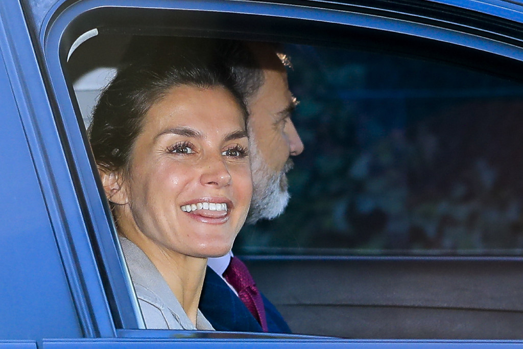 Spanish Kings Felipe VI and Letizia Ortiz with daughters during the first day of SantaMariadelosRosales school 2018 / 2019 in Madrid on Thursday , 11 September 2018