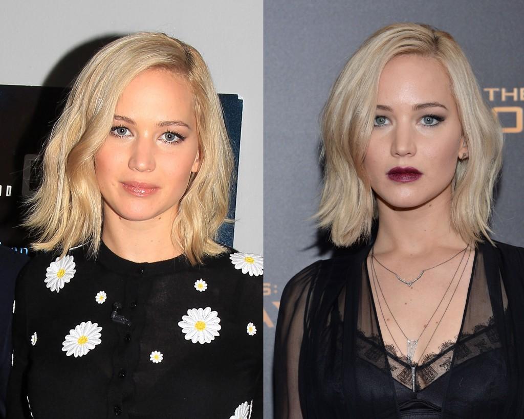 Cambiar tu maquillaje de día en uno de noche para salir de fiesta es muy sencillo. Solo tienes que aplicar algún truco como oscurecer tus labios como Jennifer Lawrence.