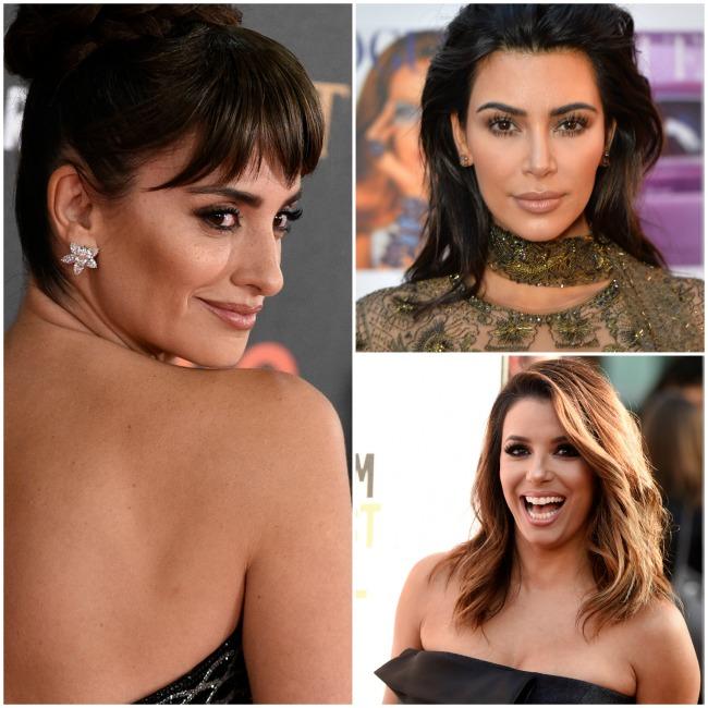 Penélope Cruz, Kim Kardashian y Eva Longoria, con contouring de labios