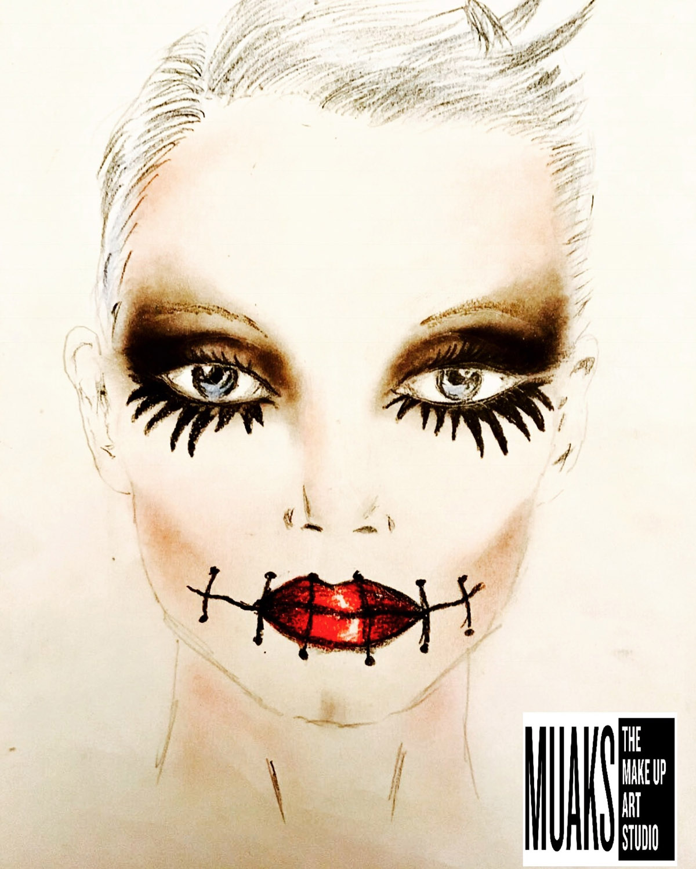 Maquillaje De La Catrina Para Halloween, Paso A Paso