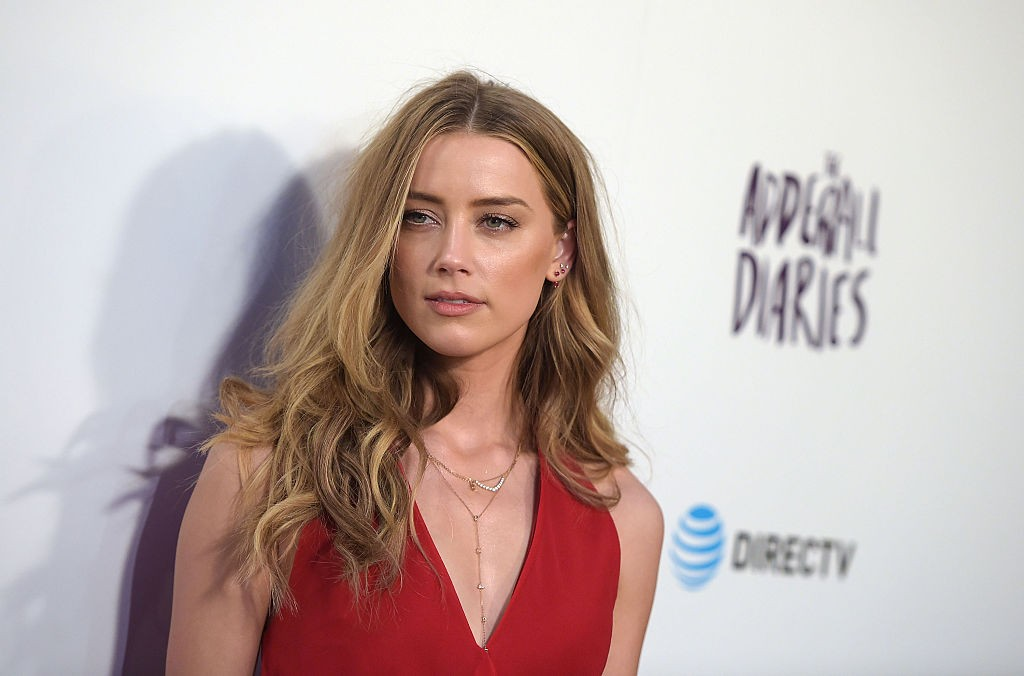 "HOLLYWOOD, CALIFORNIA - APRIL 12:  Actress Amber Heard attends A24/DIRECTV's ""The Adderall Diaires"" Premiere at ArcLight Hollywood on April 12, 2016 in Hollywood, California.  (Photo by Jason Kempin/Getty Images)"