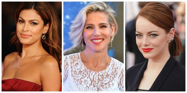 Eva Mendes, Elsa Pataky y Emma Stone, con tonos de piel muy diferentes. Encuentra tu base de maquillaje para que tu rostro quede así de perfecto.