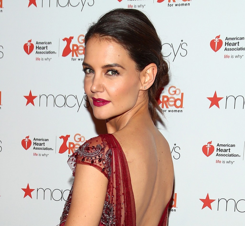 NEW YORK, NY - FEBRUARY 09:  Actress Katie Holmes attends the American Heart Association's Go Red For Women Red Dress Collection 2017 presented by Macy's at Fashion Week in New York City at Hammerstein Ballroom on February 9, 2017 in New York City.  (Photo by Astrid Stawiarz/Getty Images for AHA)