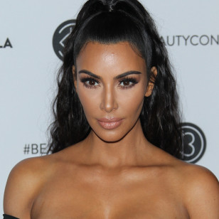 Kim Kardashian  attends BeautyCon  in Los Angeles, USA.