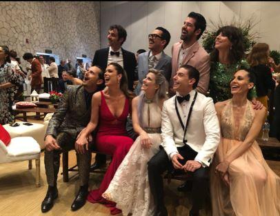 Mar Saura y algunos actores españoles en México