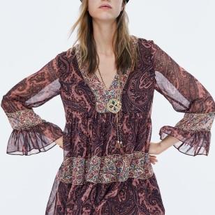 vestido estampado de Zara 49,95 EUR
