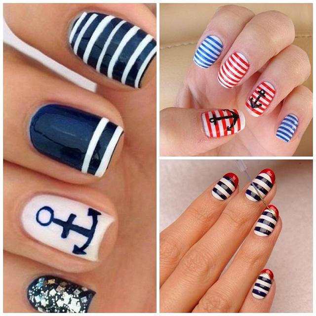 collage uñas marineras
