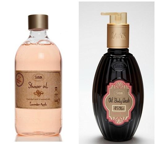 Los aceites de aguacate y de germen de trigo ayudan a regenerar la piel, mientras que el aceite de jojoba la mantiene sedosa. Lavanda Shower Oil (17,50 €). Enriquecido con aceites de almendra, semilla de uva y de romero para una hidratación total en la ducha. Disponible en cuatro aromas: Peach Mango, Festive Rose, Spicy Vanilla y Fresh Jasmine (19 €). Ambos de la marca israelita Sabon (www.sabon.es).