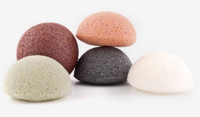 Konjack esponjas de colores