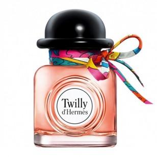 Twilly d'Hermès de Hermès, El jengibre, la tuberosa y el sándalo se unen en una combinación inédita, como fantasía final, un lazo de seda anudado a mano para enfatizar la picardía del frasco, 91 €