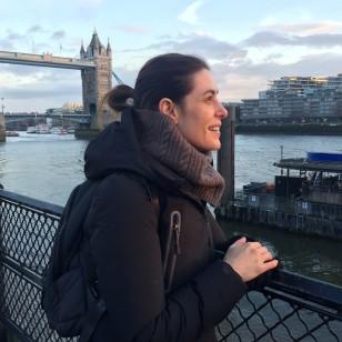 Raquel Sánchez Silva, durante un viaje a Londres