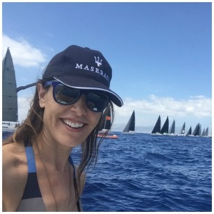Raquel Sánchez Silva, en las regatas de la Copa del Rey de Palma de Mallorca